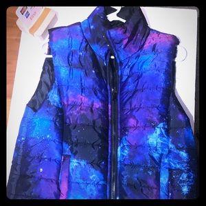 Galaxy Puffy Vest Zip Up